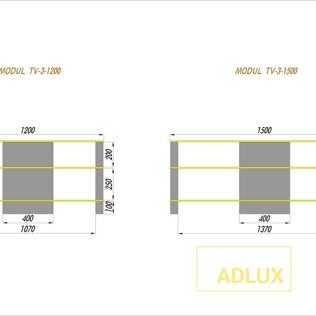 tv-table-modul tv3-1200-1500mm-Model